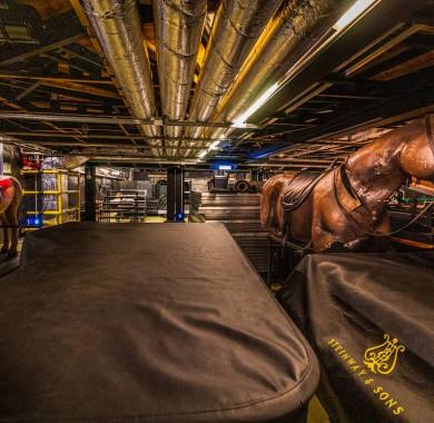 A hely, ahol bármi megtörténhet: a Fesztivál Színház színpad alatti raktára. #MüpaBudapest #Müpa #Budapest #Hungary #Concerthall #Prop #Stageset #Horse #Steinway #SteinwayAndSons #Backstage?